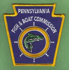 Pa Pennsylvania Fish & Boat Commission New NO TITLE Keystone Uniform Patch