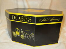 Vtg Octagonal Dobbs Hats Fifth Ave New York Hatbox ONLY W/Hat Support/Protector