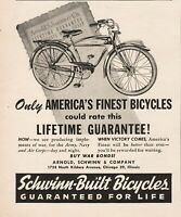1944 Arnold Schwinn Co Chicago IL WWII America's Finest Bicycles Magazine Ad