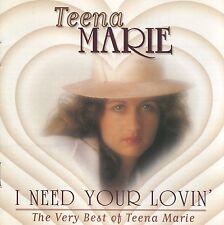 TEENA MARIE I Need Your Lovin'…the Very Best Of (1994 U.S. CD w/8 Page Booklet)