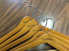 15 Pcs BROOKS BROTHERS - LOGO Wooden Suit Pants Shirt Hangers  - New