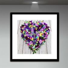 5D Diamond Painting Embroidery Full Drill Flower Heart Cross Stitch DIY Decor