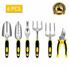 6pcs Set Shovel Rake Spade Ergonomic Handle Metal Head Mini Garden Tools