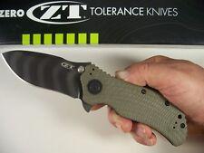 Zero Tolerance DISCONTINUED ZT 0301 Tiger Stripe Spring Assist knife G-10 S30V