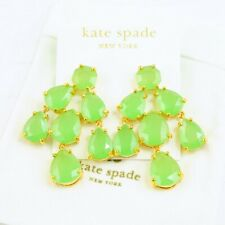 NWT Kate Spade Faceted Statement Chandelier Earrings $98 Green