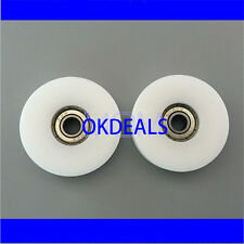 8*50*12mm Nylon Plastic Embedded 608 U Groove Ball Bearing Guide Pulley