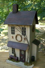 Functional Birdhouse , Farmhouse Birdhouse , Primitive Birdhouse ,  Farmhouse