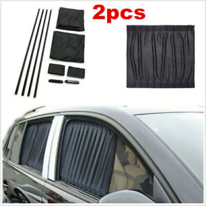 Pair Car Accessories Sunshade Side Window Foldable Visor Sun Shade Cover Block