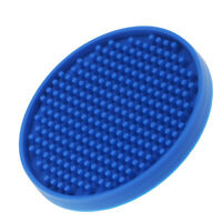 Round Drink Coasters Soft Silicone Cup Holder Mat Tableware Placemat Blue