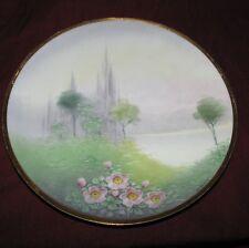 Osborne china hand painted landscape plate