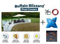 Buffalo Blizzard SUPREME PLUS Swimming Pool Winter Cover w/ Leaf Net & Pillow