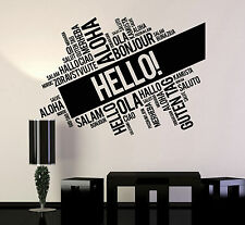 Vinyl Wall Decal Hello Words Cloud Room Office Decoration Stickers (ig4779)