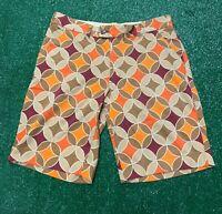 Mens Loudmouth Color Block Golf Casual Shorts 32 Geometric Multicolor Diamond