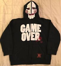 Saw Hoodie L Ecko Sweatshirt Jigsaw Puppet halloween horror movie mask costume