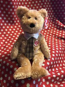 Ty Beanie Buddy DAD-e 2004 Bear Ty Store Fathers Day tie
