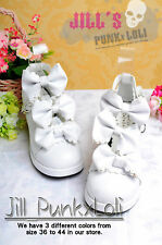 Lolita Baby Doll Bow Maid Scalloped Heel shoes 37 white 9972