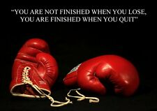 BOXING INSPIRATIONAL / MOTIVATIONAL QUOTE POSTER / PRINT / PICTURE FANTASTIC (14