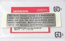 HONDA CL SL CB 100 125 175 350 360 450 CB 550 750 CAUTION EXHAUST LABEL DECAL