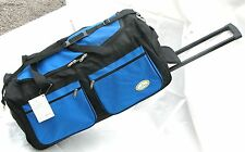 "30"" 50LB. CAPACITY ROLLING WHEELED DUFFLE BAG / LUGGAGE/SUITCASE WITH HANDLE BLU"