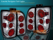 1998-2002 LINCOLN NAVIGATOR TAIL LIGHTS CHROME 4 PIECES 2001 2000 1999