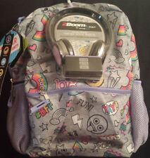 Star Point #BFF Backpack with Headphones Tech Ready School Or Travel Pack