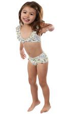 Toddler Girls Two-Piece Swimsuit w/ Ruffles. Kids Swimwear Girls Bikini 2T - 10