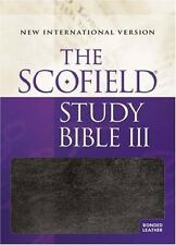 NIV, Scofield Study Bible III (2004, Thumb Indexed, Blue Bonded leather)