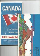 Canada No Us 1967 Western Highway Map Canada 1976