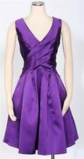 JS BOUTIQUE Purple Cocktail Party Shift Dress Size 14  A-Line Women's New $179*