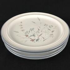 "Set of 4 VTG Salad Plates by Noritake Stoneware Woodstock 8354 Japan 8 1/4"""