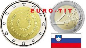 2 €    SLOVENIE  COMMEMORATIVE   1  X  PIECE    MUSEE SLOVENE     2021   NOUVEAU