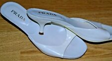 Prada -Italy Original Classic Designer White Heel Slipper Shoes UK 3.5 EU 36.5