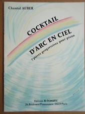 """MUSIQUE : PARTITION pour PIANO """" COCKTAIL D'ARC EN CIEL """" EDITIONS COMBRE"""