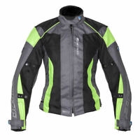 SPADA AIR PRO 2 LADIES BLACK SILVER FLUO VENTED MOTORCYCLE MOTORBIKE JACKET