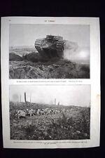 Tank en action, la ferme du Bois-Labé 13 septembre 1916 WW1 Guerra 1914 - 1918