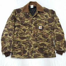 Vintage Carhartt Beo Gam Camo Camouflage Hunting Jacket Mens Medium