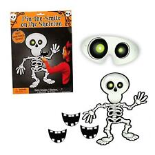 Kids Pin Stick the Smile on the Skeleton Halloween Party Game for 12 Players