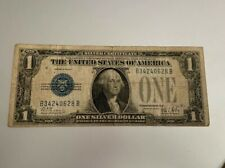 $1 1928B One Dollar USA Silver Certificate Bill Money Blue Seal Note Currency