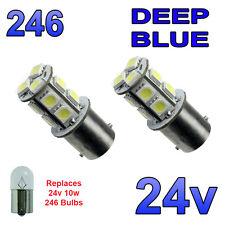 2 X BLU 24V LED BA15S R10W 246 13 SMD TARGA INTERNI LAMPADINE Mezzi Pesanti Camion