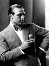Vintage Photography Portrait Rudolph Valentino Smoking Cool Canvas Art Print
