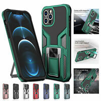 For iPhone 12 11 Pro Max 8 7 XR XS Shockproof Hybrid Armor Kickstand Case Cover