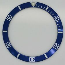 BEZEL INSERT FOR & FITS ROLEX SUBMARINER WATCH BLUE SILVER 16613 16618 16803