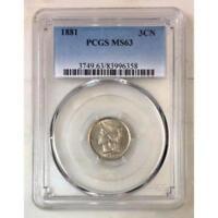 1881 Three Cent Nickel PCGS MS63 *Rev Tye's* #6358180