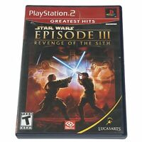 Star Wars: Episode III: Revenge of the Sith (Sony PlayStation 2) Case & Disc