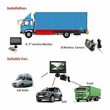 """Wireless Car / Truck Rear View Camera with IR System with 7"""" TFT LCD Monitor"""