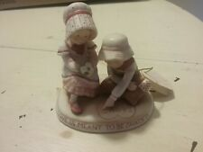 """Holly Hobbie 1981 Limited Edition Porcelain Figurine called """"Love Shared"""""""