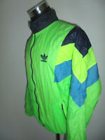 vintage bulgaria 80`s ADIDAS Nylon Jacke Sportjacke glanz neon oldschool D5 S/M