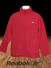 New REEBOK Men's Sports FLEECE Jacket  Full Zip Red Large