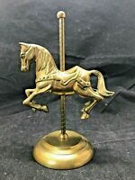 Vintage Enesco Brass Carousel Horse Figurine Statue
