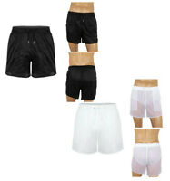 Mens Mesh Casual Shorts Quick Dry Sports Training Swim Trunks Short Pants Briefs